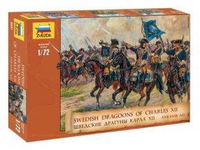 Zvezda - Švédští dragouni, 17. až 18. století, Model Kit figurky 8057, 1/72