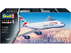 Revell - Airbus A380-800, dopravce British Airways, Plastic ModelKit letadlo 03922, 1/144