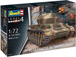 Revell - Flakpanzer IV Wirbelwind, 2 cm Flak 38, Plastic ModelKit military 03267, 1/72