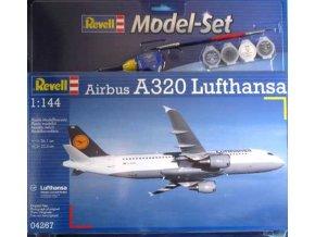 Revell - Airbus A320, dopravce Lufthansa, Modelset letadlo 64267, 1/144