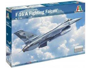 Italeri - General Dynamics F-16A Fighting Falcon, Model Kit letadlo 2786, 1/48