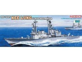 Dragon - Kee Lung Class Destroyer, námořnictvo Čínské republiky, Model Kit loď 1067, 1/350