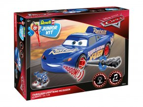 Revell - Blesk McQueen -  světelné a zvukové efekty, Cars 3, Junior Kit 00863, 1/20