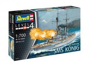 Revell - bitevní loď SMS König, 1. světová válka, Plastic ModelKit loď 05157, 1/700