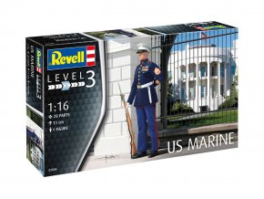 Revell - figurka US Marine, Plastic ModelKit figurka 02804, 1/16