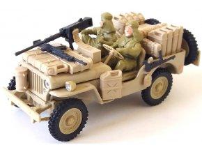 Cararama - Jeep Willys, Special Air Service - SAS, pouštní úprava, 1/43