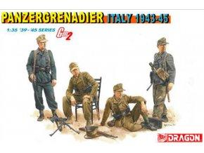 Dragon - figurky Panzergrenadier, Itálie 1943-45, Model Kit figurky 6348, 1/35