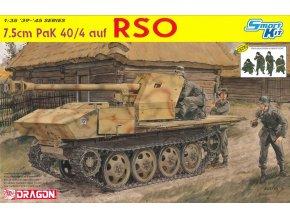 Dragon - 7.5cm PaK 40/4 na podvozku RSO s posádkou, Model Kit 6640, 1/35