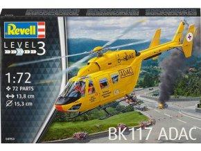 Revell - MBB/Kawasaki BK 117, ADAC, Plastic ModelKit 04953, 1/72