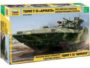 Zvezda - T-15 Armata, ruské těžké pěchotní vozidlo, Model Kit 3681, 1/35