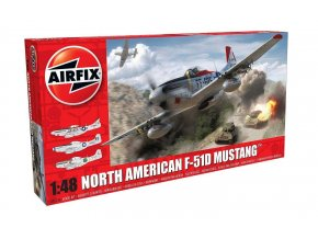 Airfix - North American F-51D Mustang, Classic Kit letadlo A05136, 1/48