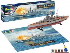 Revell - HMS Hood, 100 Years, Gift-Set loď 05693, 1/720