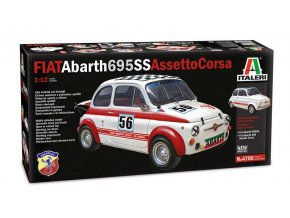Italeri - FIAT Abarth 695SS/Assetto Corsa, Model Kit auto 4705, 1/12