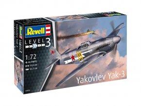 Revell - Yakovlev Yak-3, Plastic ModelKit letadlo 03894, 1/72
