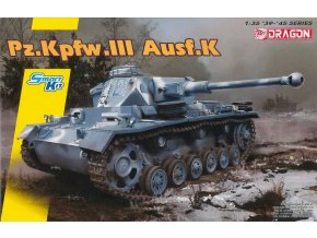 Dragon - Pz.Kpfw.III Ausf.K, Model Kit 6903 (Smart Kit), 1/35