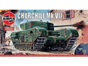 Airfix - Churchill Mk.VII, Classic Kit VINTAGE A01304V, 1/76