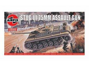 Airfix - Stug III, útočné dělo, Classic Kit VINTAGE A01306V, 1/76