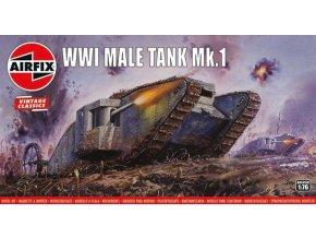 Airfix - Male Tank Mk.I, první světová válka, Classic Kit VINTAGE A01315V, 1/76