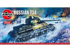 Airfix - T-34, sovětská armáda, Classic Kit VINTAGE A01316V, 1/76