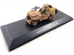 Atlas Models - Jeep Willys MB, Special Air Service - SAS, Lybie, 1942, 1/43