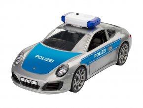 Revell - Porsche 911 Police, Junior Kit 00818, 1/20