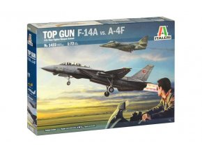 Italeri - Grumman F-14A Tomcat vs. Douglas A-4F Skyhawk, TOP GUN, Model Kit 1422, 1/72