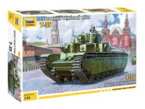 Zvezda - T-35, sovětská armáda, Model Kit 5061, 1/72