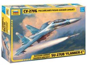"Zvezda - Suchoj Su-27 UB ""Flanker-C"", Model Kit 7294, 1/72"