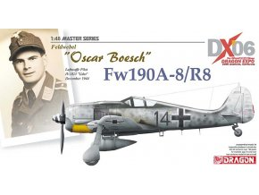 "Dragon - Focke-Wulf Fw190A-8/R-8, Luftwaffe, IV./JG 3 ""Udet"", Oscar Boesch, prosinec 1944, Model Kit, 1/48"