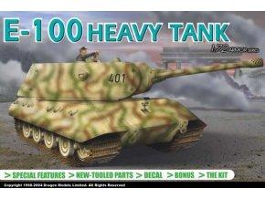 Dragon - Panzerkampfwagen E-100, Model Kit 7256, 1/72