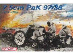 Dragon - německý protitankový kanón 7,5 cm PaK 97/38, Model Kit 6123, 1/35