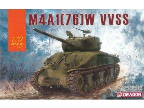 Dragon - M4A1(76)W Sherman VVSS, Model Kit 7571, 1/72
