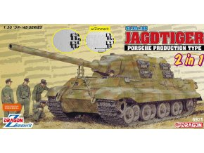 Dragon - Sd.Kfz.186 Panzerjäger Tiger Ausf. B / Jagdtiger - Porsche Production, 2 in 1, Model Kit 6925, 1/35