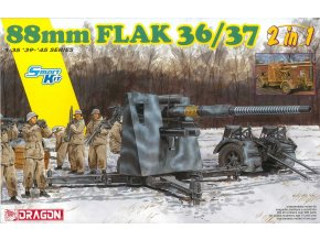 Dragon - 88mm FlaK 36/37 (2 v 1), Model Kit 6923, 1/35