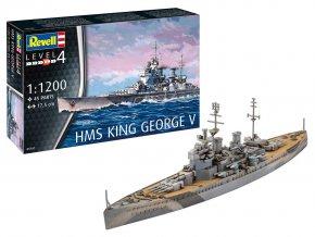Revell - HMS King George V, Plastic ModelKit 05161, 1/1200
