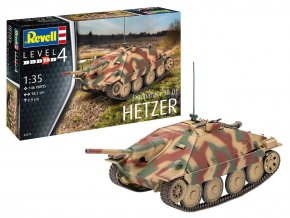 Revell - Sd.Kfz.138/2 Jagdpanzer 38(t) Hetzer, německý stíhač tanků, Plastic ModelKit 03272, 1/35