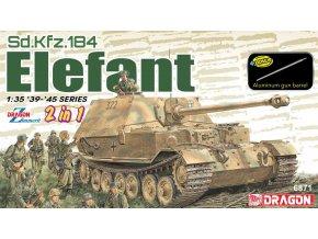 Dragon - Sd.Kfz.184 Elefant (2 v 1), Model Kit 6871, 1/35