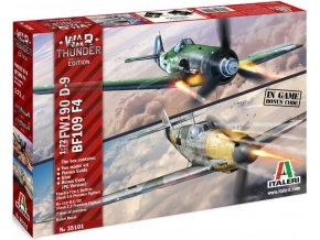 Italeri - Messerschmitt Bf-109 F-4 a Focke-Wulf Fw-190 D-9, Model Kit War Thunder 35101, 1/72