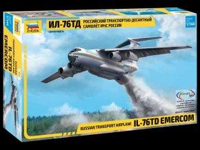 "Zvezda - Iljušin Il-76TD Emercom ""Candid"", Model Kit 7029, 1/144"