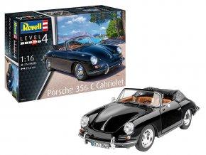 Revell - Porsche 356 Cabriolet, Plastic ModelKit 07043, 1/16