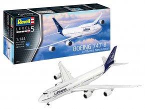 """Revell - Boeing B747-8, dopravce Lufthansa, """"New Livery"""", Plastic ModelKit 03891, 1/144"""