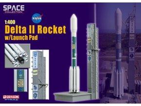 Dragon - raketa Delta II ve startovní poloze, 1/400