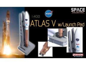 Dragon - raketa Atlas V ve startovní poloze, 1/400