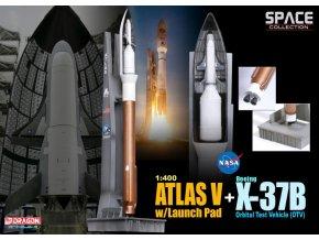 Dragon - raketa Atlas V ve startovní poloze s lodí X-37, 1/400
