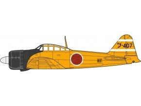 Oxford - Mitsubishi A6M2 Zero, japonské císařské námořnictvo, 1/72