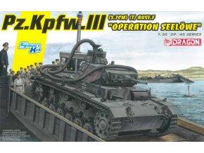Dragon - Pz.Kpfw.III (3.7cm) (T) Ausf.F, operace Seelöwe, Model Kit 6877, 1/35