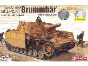 Dragon - Sd.Kfz.166 Sturmpanzer IV Brummbär (2 v 1), Model Kit 6892, 1/35