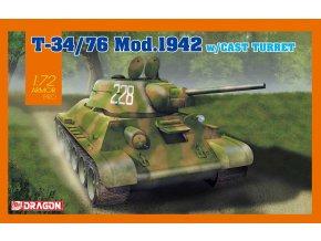 Dragon - T-34/76 Mod.1942, Model Kit 7601, 1/72