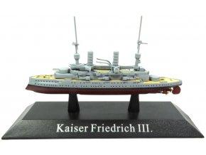 De Agostini - pre-dreadnought SMS Kaiser Friedrich III, 1896, 1/1250