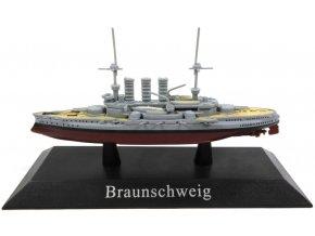 De Agostini - pre-dreadnought SMS Braunschweig, 1902, 1/1250